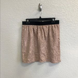 Ann Taylor Loft blush lace skirt